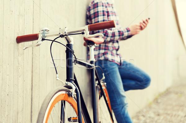 зафиксировано Gear велосипедов человека Сток-фото © dolgachov