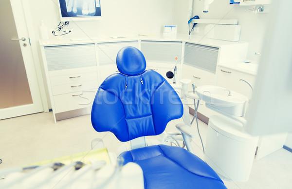 Interieur nieuwe moderne tandheelkundige kliniek kantoor Stockfoto © dolgachov