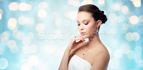 Photo stock: Belle · femme · boucle · anneau · beauté · bijoux · personnes