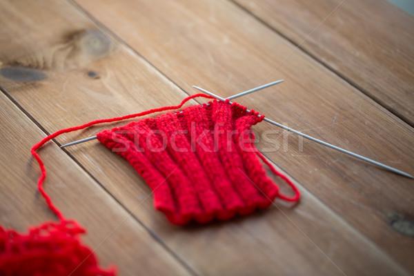 Artículo agujas madera costura invierno Foto stock © dolgachov