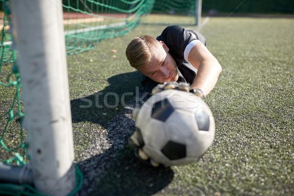вратарь мяча футбола цель области спорт Сток-фото © dolgachov