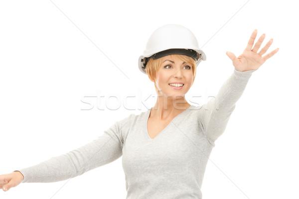 女性 ヘルメット 作業 虚数 ストックフォト © dolgachov