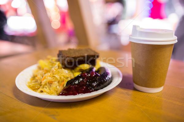 капуста соус пластина продовольствие еды Сток-фото © dolgachov