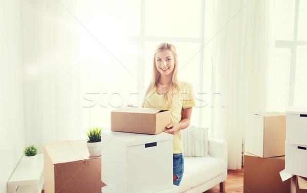 Sorridere home movimento consegna Foto d'archivio © dolgachov
