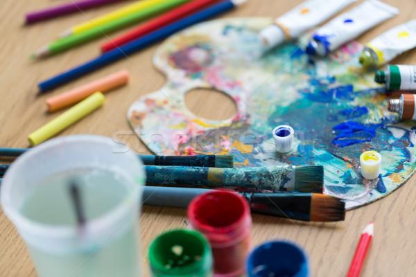 Stok fotoğraf: Paletine · boya · tablo · yaratıcılık