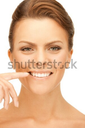 beautiful woman with plaster Stock photo © dolgachov