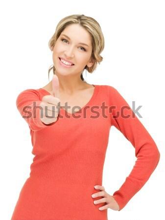 женщину открытых стороны готовый рукопожатие ярко Сток-фото © dolgachov