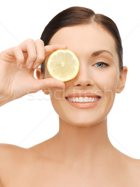 Femme lumineuses photos belle femme heureux Photo stock © dolgachov