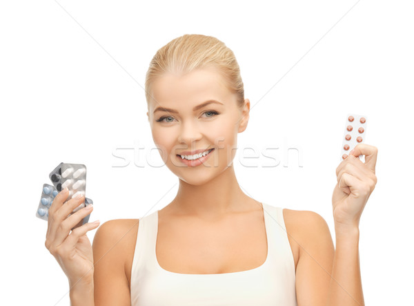 Pillole foto varietà donna salute Foto d'archivio © dolgachov