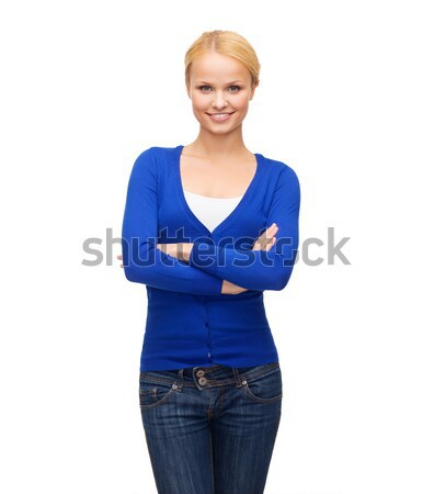 smiling girl in casual clothes Stock photo © dolgachov