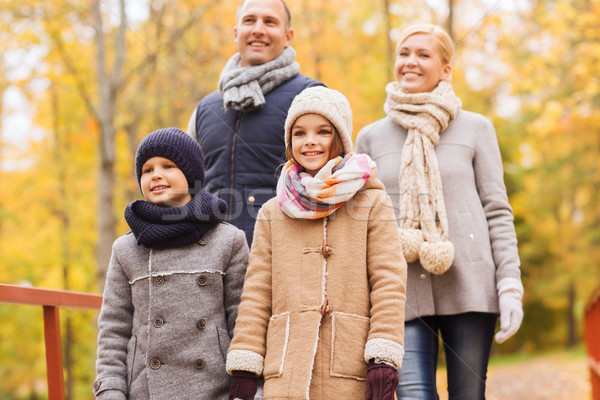 幸せな家族 秋 公園 家族 幼年 シーズン ストックフォト © dolgachov