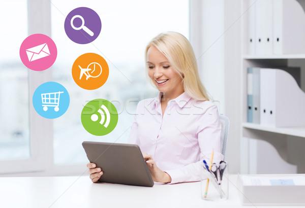 Stockfoto: Glimlachend · zakenvrouw · student · onderwijs · business
