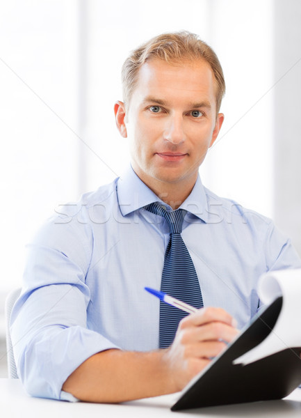 businessman taking employment inteview Stock photo © dolgachov