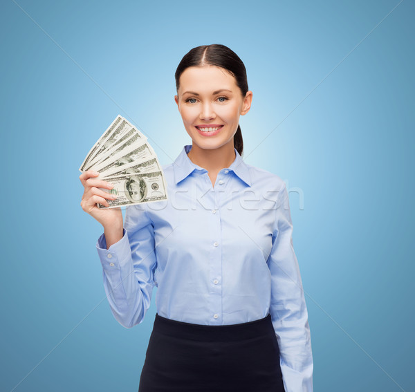 businesswoman with dollar cash money Stock photo © dolgachov
