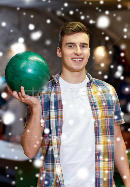 Feliz joven pelota bolera club Foto stock © dolgachov