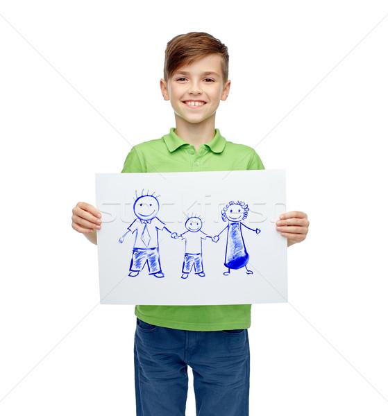 Dibujo Foto familia infancia Foto stock © dolgachov