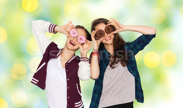 Mutlu güzel insanlar Stok fotoğraf © dolgachov