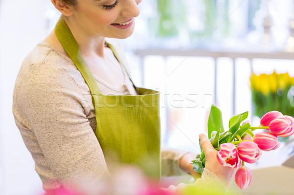 Fleuriste personnes Photo stock © dolgachov
