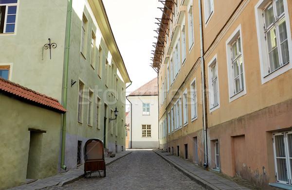 Oude straat verlaten reizen toerisme europese Stockfoto © dolgachov