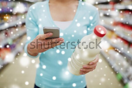 close up of man with shaving foam spray Stock photo © dolgachov