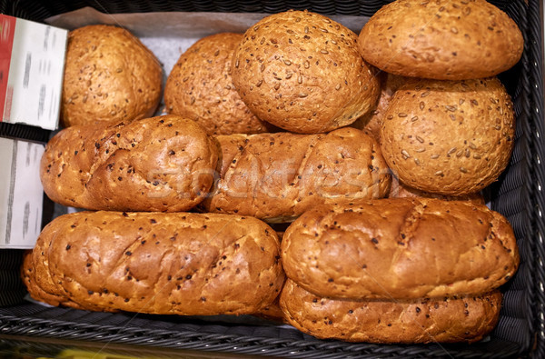 Pão padaria mercearia comida Foto stock © dolgachov