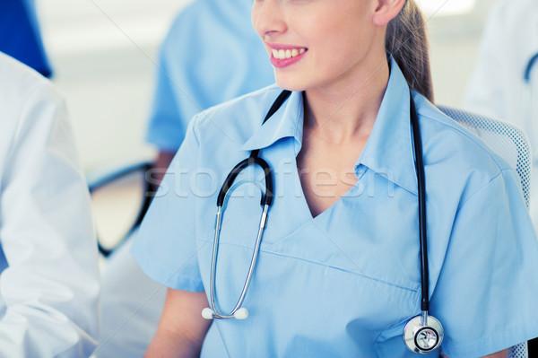 Arzt Stethoskop Seminar Bildung Beruf Stock foto © dolgachov