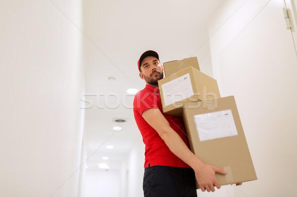 Pola korytarz stanie mail Zdjęcia stock © dolgachov
