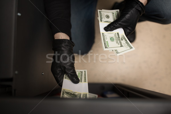 Ladro rubare soldi sicuro scena del crimine furto Foto d'archivio © dolgachov