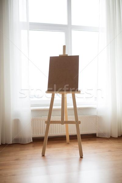 wooden easel at art studio Stock photo © dolgachov