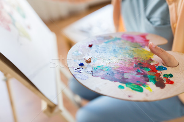 Művész festék paletta festmény művészet stúdió Stock fotó © dolgachov