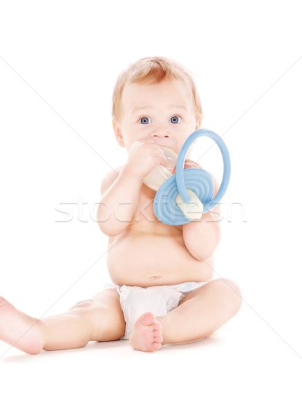赤ちゃん 少年 ビッグ おしゃぶり 画像 白 ストックフォト © dolgachov