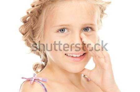 Donna pettegolezzi luminoso foto Foto d'archivio © dolgachov