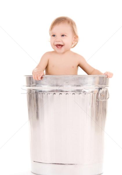 Bébé poubelle photos adorable heureux enfant Photo stock © dolgachov