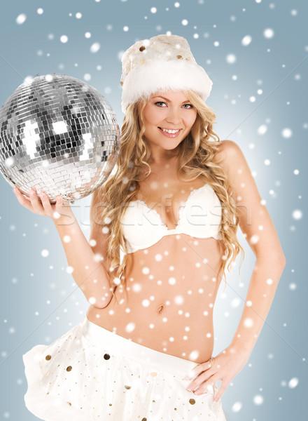 Seksi yardımcı disko topu resim kadın Stok fotoğraf © dolgachov