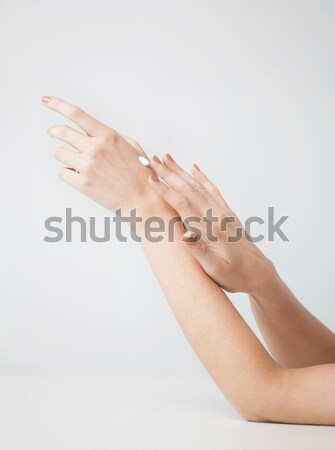 female soft skin hands Stock photo © dolgachov