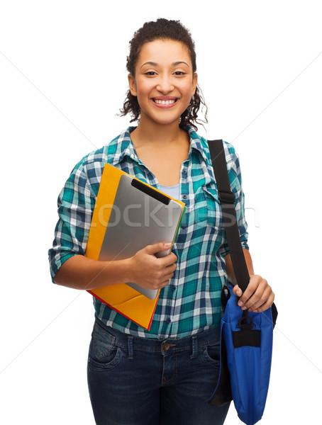 улыбаясь студент сумку образование Сток-фото © dolgachov