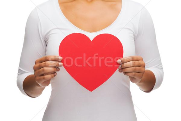 Mulher mãos coração amor relações Foto stock © dolgachov