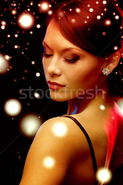 Сток-фото: женщину · вечернее · платье · Diamond · роскошь