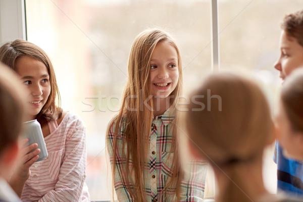 Grupo escuela ninos sosa corredor educación Foto stock © dolgachov