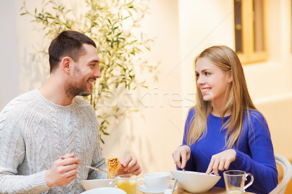 幸せ カップル 会議 ディナー カフェ 人 ストックフォト © dolgachov