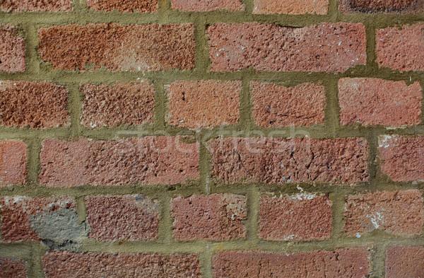 Foto stock: Vermelho · parede · de · tijolos · textura · fundos · texturas · fundo