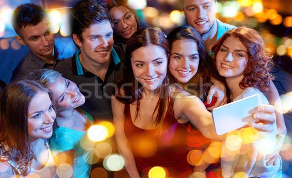 друзей смартфон клуба вечеринка технологий Сток-фото © dolgachov