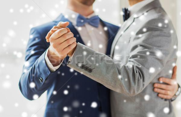 幸せ 男性 ゲイ カップル ダンス ストックフォト © dolgachov