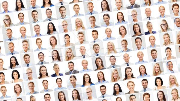 коллаж многие деловые люди портретов успех бизнеса Сток-фото © dolgachov