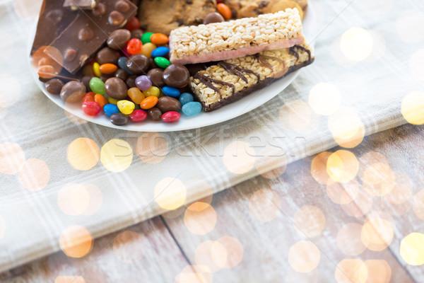 конфеты шоколадом мюсли Cookies Сток-фото © dolgachov