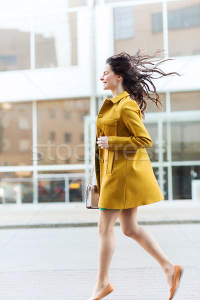 счастливым городской улице моде люди Сток-фото © dolgachov