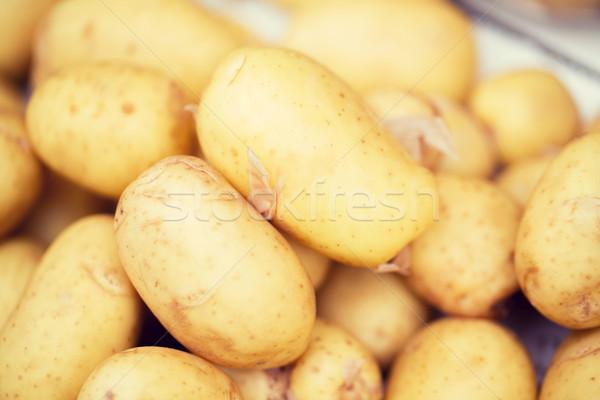 close up of potato at street market Stock photo © dolgachov