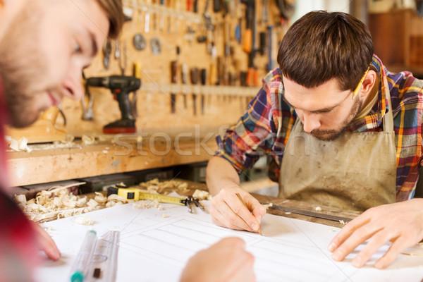 Governante diagrama oficina profissão carpintaria marcenaria Foto stock © dolgachov