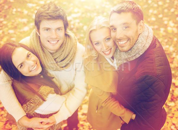 Grupo amigos outono parque verão Foto stock © dolgachov