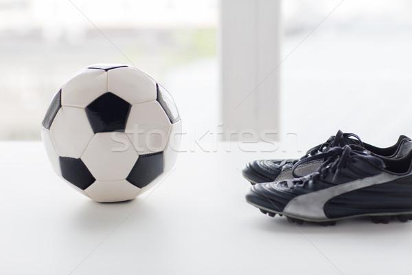 ストックフォト: サッカーボール · サッカー · ブーツ · スポーツ · サッカー